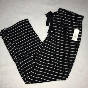 Nautical Striped black Pajama Pants